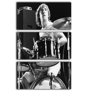 Keith Moon At Tanglewood Music Shed 3 Split Panel Canvas Print - Canvas Art Rocks - 1