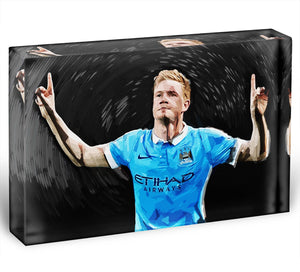 Kevin De Bryne Man City Acrylic Block - Canvas Art Rocks - 1