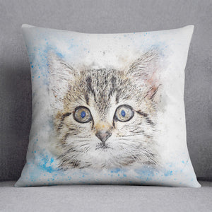 Kitten Painting Cushion