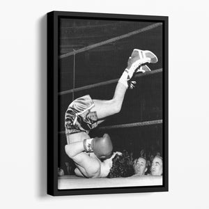 Knock Out Floating Framed Canvas - Canvas Art Rocks - 1