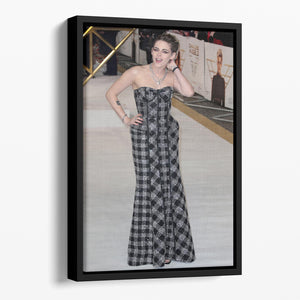 Kristen Stewart Floating Framed Canvas - Canvas Art Rocks - 1