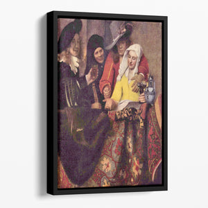 Kupplerin by Vermeer Floating Framed Canvas