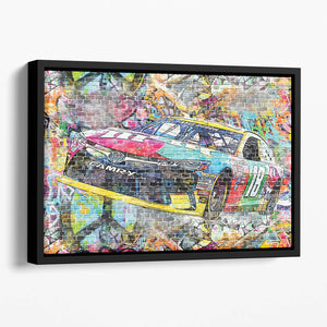 Kyle Busch Nascar Camry Floating Framed Canvas