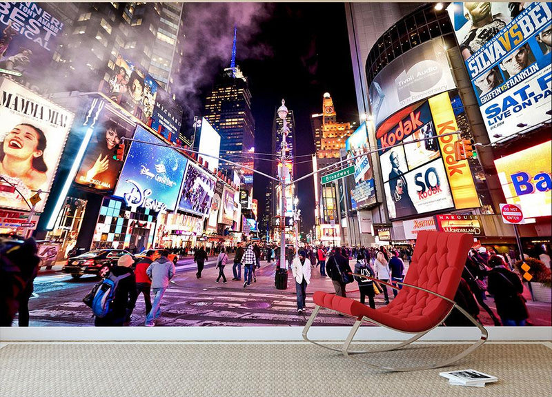 LED signs Broadway Theaters Wall Mural Wallpaper - Canvas Art Rocks - 1