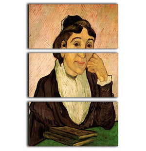 L Arlesienne Madame Ginoux 2 by Van Gogh 3 Split Panel Canvas Print - Canvas Art Rocks - 1