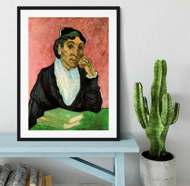 L Arlesienne Madame Ginoux 3 by Van Gogh Framed Print - Canvas Art Rocks - 1
