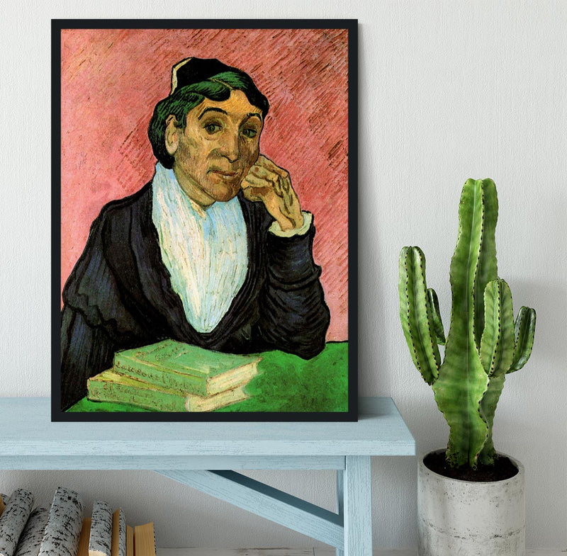 L Arlesienne Madame Ginoux 3 by Van Gogh Framed Print - Canvas Art Rocks - 2