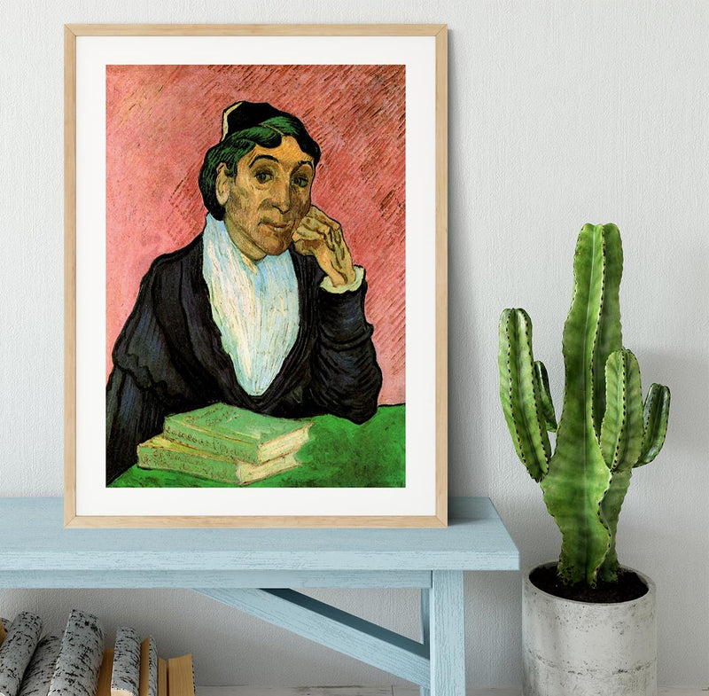 L Arlesienne Madame Ginoux 3 by Van Gogh Framed Print - Canvas Art Rocks - 3