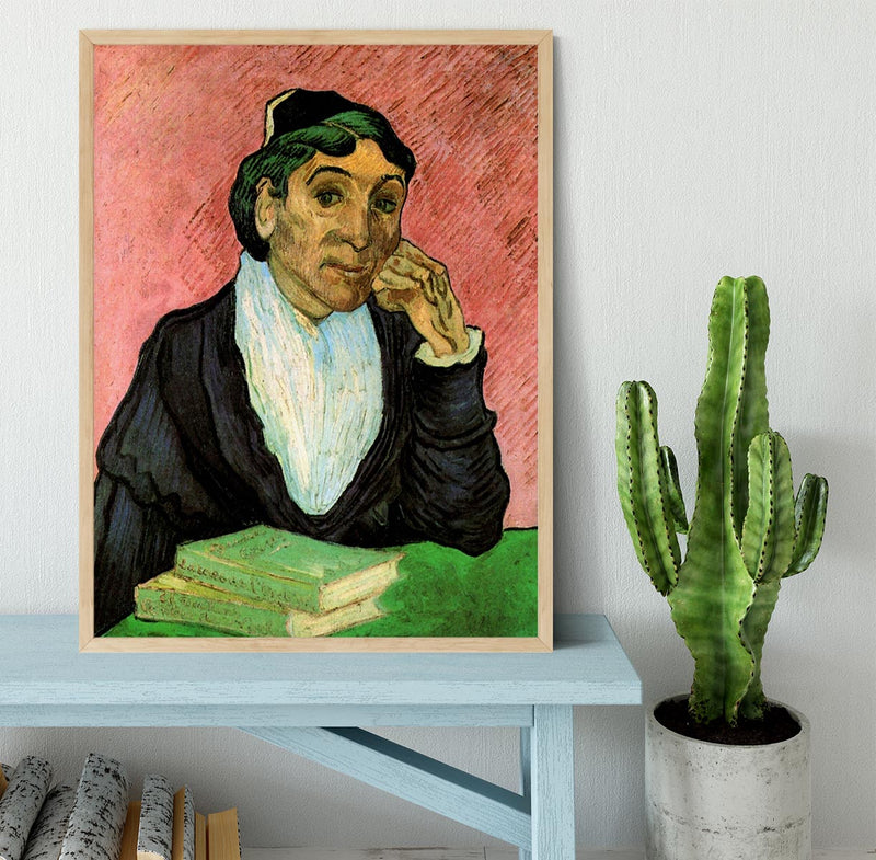 L Arlesienne Madame Ginoux 3 by Van Gogh Framed Print - Canvas Art Rocks - 4