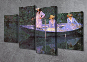 La Barque at Giverny by Monet 4 Split Panel Canvas - Canvas Art Rocks - 2