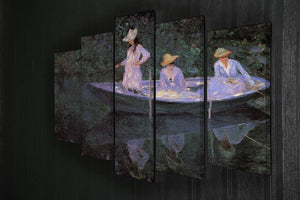 La Barque at Giverny by Monet 5 Split Panel Canvas - Canvas Art Rocks - 2