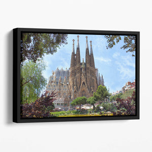 La Sagrada Familia Floating Framed Canvas