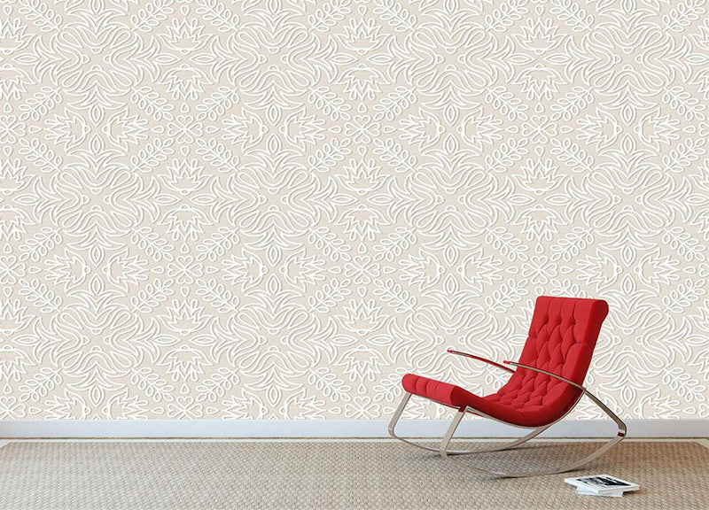Lace vintage floral vector Wall Mural Wallpaper - Canvas Art Rocks - 1