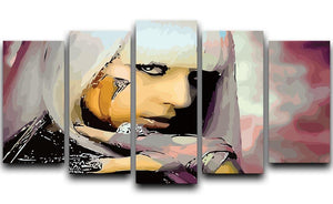 Lady Gaga 5 Split Panel Canvas  - Canvas Art Rocks - 1