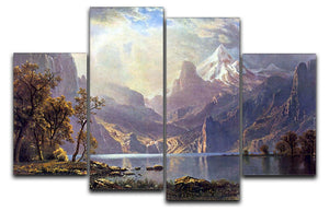 Lake Tahoe by Bierstadt 4 Split Panel Canvas - Canvas Art Rocks - 1