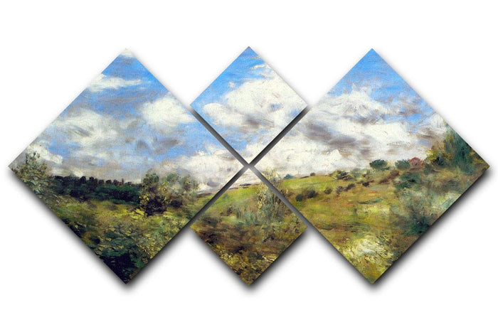 Landscape by Renoir 4 Square Multi Panel Canvas