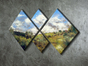 Landscape by Renoir 4 Square Multi Panel Canvas - Canvas Art Rocks - 2
