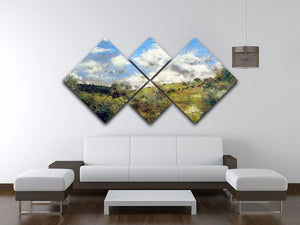 Landscape by Renoir 4 Square Multi Panel Canvas - Canvas Art Rocks - 3