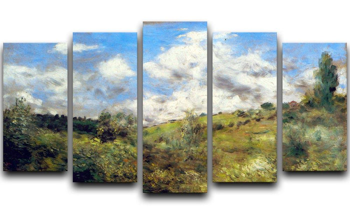 Landscape by Renoir 5 Split Panel Canvas