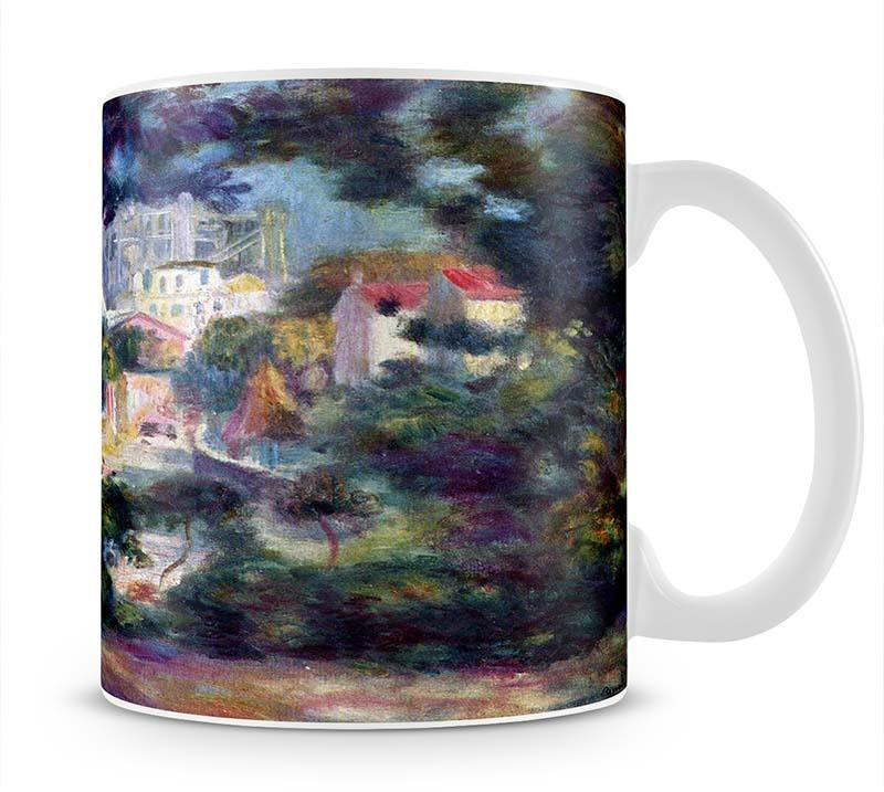 Landscape with a view of the Sacred Heart by Renoir Mug - Canvas Art Rocks - 1