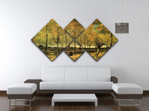 Lane with Poplars by Van Gogh 4 Square Multi Panel Canvas - Canvas Art Rocks - 3