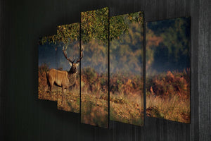 Large red deer stag in autumn 5 Split Panel Canvas - Canvas Art Rocks - 2
