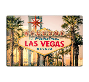 Las Vegas Welcomes You HD Metal Print