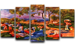 Laundresses by Renoir 5 Split Panel Canvas  - Canvas Art Rocks - 1