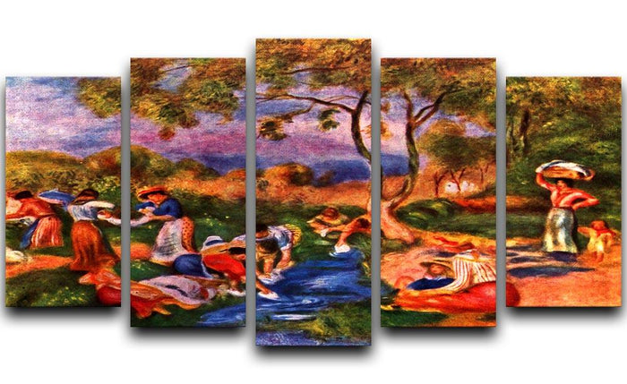 Laundresses by Renoir 5 Split Panel Canvas