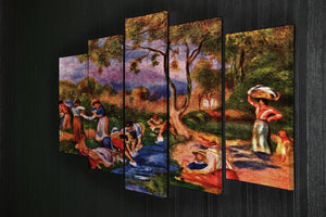 Laundresses by Renoir 5 Split Panel Canvas - Canvas Art Rocks - 2