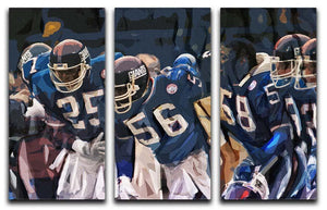 Lawrence Taylor New York Giants 3 Split Panel Canvas Print - Canvas Art Rocks - 1