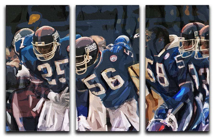 Lawrence Taylor New York Giants 3 Split Panel Canvas Print