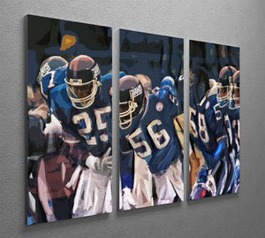 Lawrence Taylor New York Giants 3 Split Panel Canvas Print - Canvas Art Rocks - 2