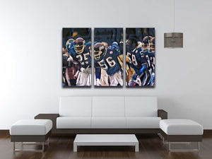 Lawrence Taylor New York Giants 3 Split Panel Canvas Print - Canvas Art Rocks - 3