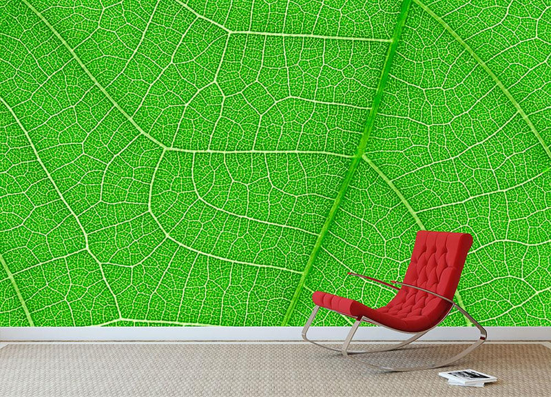 Leaf texture Wall Mural Wallpaper - Canvas Art Rocks - 1