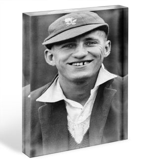Len Hutton cricketer Acrylic Block - Canvas Art Rocks - 1
