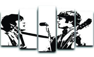 Lennon and McCartney 5 Split Panel Canvas  - Canvas Art Rocks - 1