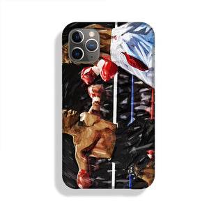 Lennox Lewis v Mike Tyson Phone Case iPhone 11 Pro Max