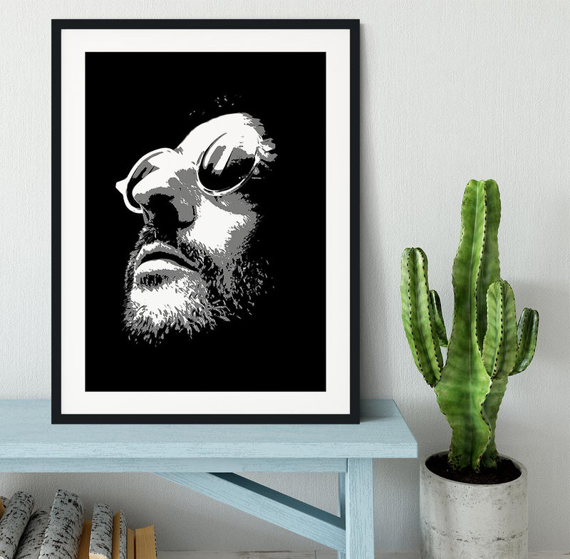 Leon Pop Art Framed Print - Canvas Art Rocks - 1