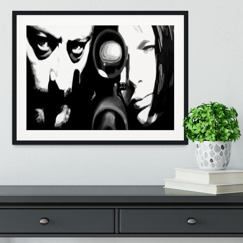 Leon black and white Framed Print - Canvas Art Rocks - 1