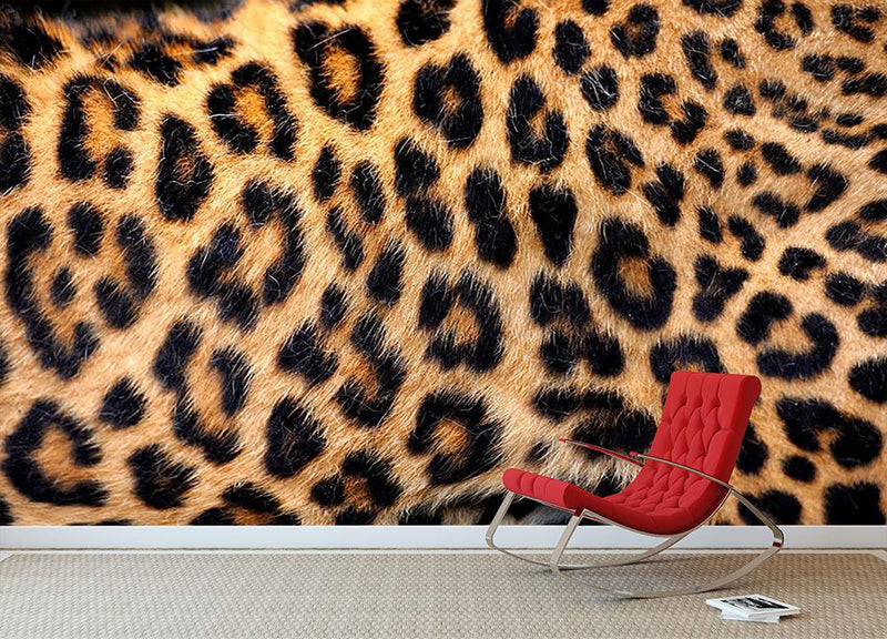 Leopard skin texture Wall Mural Wallpaper - Canvas Art Rocks - 1