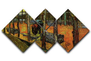 Les Alyscamps 2 by Van Gogh 4 Square Multi Panel Canvas  - Canvas Art Rocks - 1