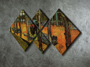 Les Alyscamps 2 by Van Gogh 4 Square Multi Panel Canvas - Canvas Art Rocks - 2