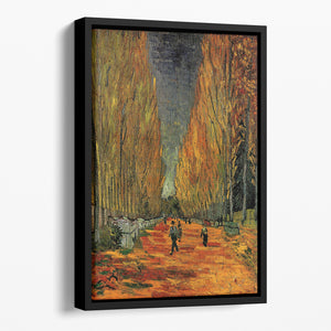 Les Alyscamps 3 by Van Gogh Floating Framed Canvas