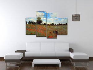 Les Coqueliquots 4 Split Panel Canvas - Canvas Art Rocks - 3