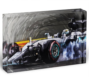Lewis Hamilton Formula 1 Acrylic Block - Canvas Art Rocks - 1