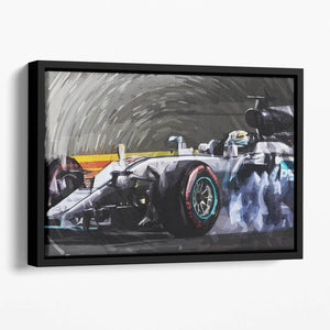 Lewis Hamilton Formula 1 Floating Framed Canvas