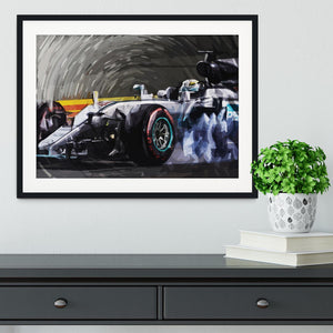 Lewis Hamilton Formula 1 Framed Print - Canvas Art Rocks - 1