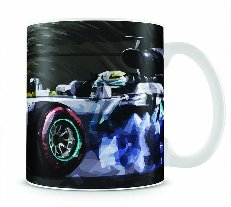 Lewis Hamilton Formula 1 Mug - Canvas Art Rocks - 1