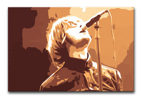 Liam Gallagher Oasis Rock 'n Roll Print - Canvas Art Rocks - 1